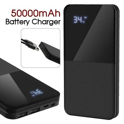 AU26.49 • Buy 500000mAh Portable Power Bank Charger With LCD 2USB External Battery Pack AU