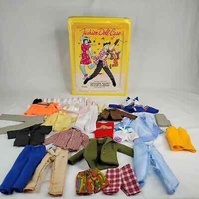 $ CDN37.77 • Buy Vintage Barbie Clone Or Homemade Clothes 32 Piece Lot And Fashion Doll Case