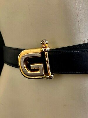 AU69.50 • Buy Gucci Genuine Black Leather Belt SIZE 95-38 In Excellent Condition.