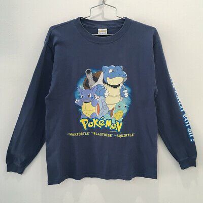 $40 • Buy Vintage Pokemon 1999 Long Sleeve T-shirt Squirtle Blastoise  Youth Size L
