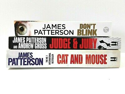 AU20 • Buy 3 Large PRINT Books Of JAMES PATTERSON'S Dont Blink, Judge & Jury, Cat And Mouse
