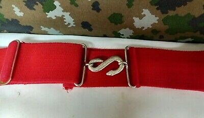 £18.25 • Buy British Army Military Surplus Red Physical Training Instructor PTI Snake Belt