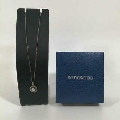 £62.72 • Buy Wedgwood Sv Necklace With Case Flower Mark