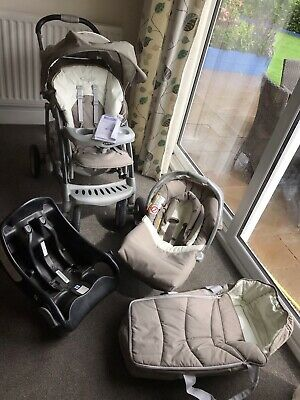 £100 • Buy Graco Quattro Travel System Single Seat Stroller And Car Seat With Base