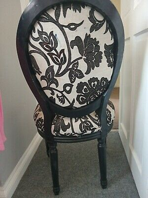 £32 • Buy  Occasion Chair Carver  French Black White  Ornate Dressing Table Chair