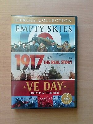 £5.95 • Buy Heroes WWII Collection [DVD] - 3 War Film Set Empty Skies 1917 VE Day Free P&P