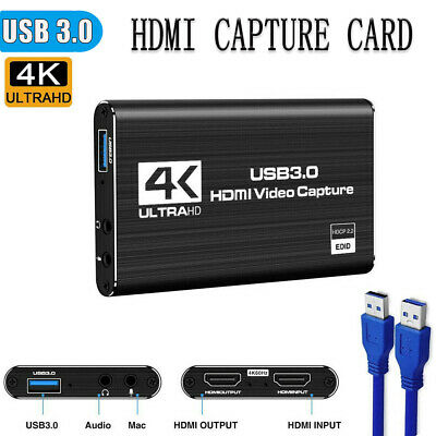 £24.99 • Buy 4K HDMI To USB 3.0 Capture Video Card 1080P Reliable Capture Game Card Recording