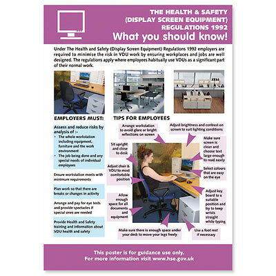 £5.49 • Buy Health And Safety Display Screen Equipment. POSTER / SIGN Ref: HS110 420 X 594mm