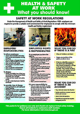 £6 • Buy Health And Safety AT WORK A2 POSTER / SIGN Ref HS106 420 X 594mm