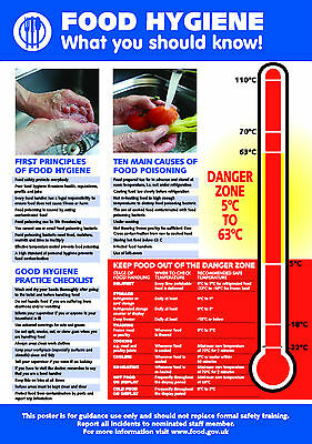 £5.29 • Buy Health And Safety FOOD HYGIENE A4 210 X 297mm Self Adhesive Vinyl POSTER / SIGN