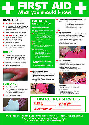 £5.95 • Buy Health And Safety Frist Aid A2 POSTER / SIGN Ref: HS101 420 X 594mm