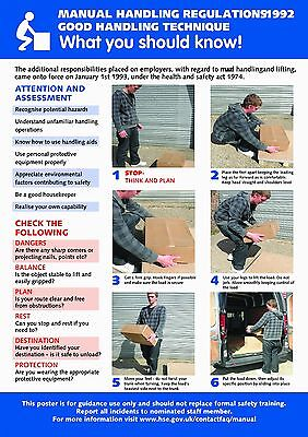 £6 • Buy Health And Safety Manual Handling A2 POSTER / SIGN Ref: HS102 420 X 594mm