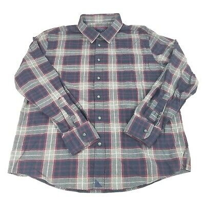 $29.99 • Buy UNTUCKit Mens Plaid Flannel Button Up Shirt Long Sleeve 100% Cotton Size XL