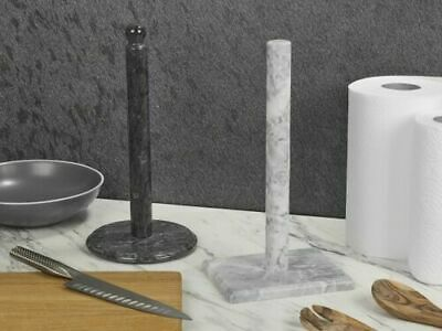 £11.49 • Buy Paper Towel Holder Marble Kitchen Roll Stand Freestanding Kitchen Pole NEW
