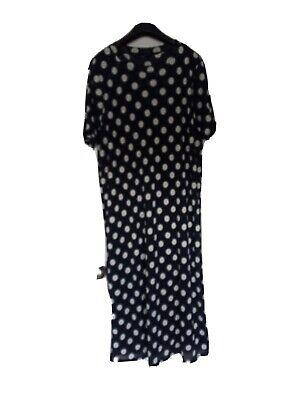 £13.99 • Buy Beautiful Size 20 Next Polka Dot Dress.  Brand New Without Tags. Navy And White.