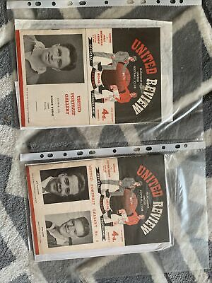 £400 • Buy 15 Manchester United 15 Programmes From 1955-1956 Season
