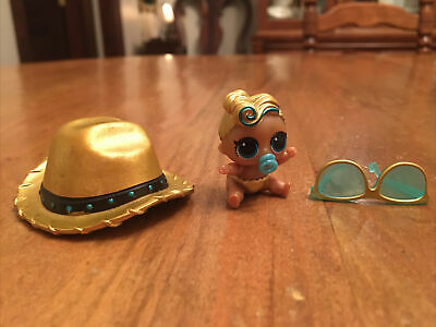 $ CDN15.11 • Buy LOL Surprise Doll LIL LUXE LUX 24K BABY Little Sis GOLD Cowboy Hat Glasses