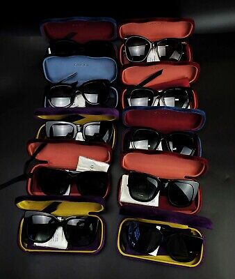 AU1087.02 • Buy Lot Of 10 New In Damaged Cases Assorted Gucci Sunglasses Various Styles -BBJ1495