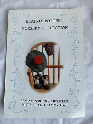 £3.50 • Buy Beatrix Potter Benjamin Bunny Bootees Mittens And Tammy Hat Knitting Pattern