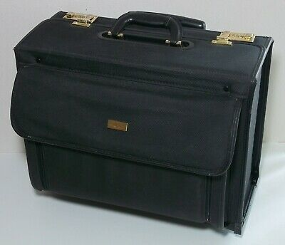 $79.99 • Buy US Luggage Rolling Catalog Case Brief Sales Doctor Lawyer Computer Carry Wheeled