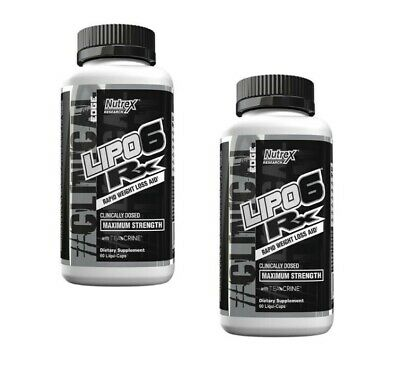 £36.24 • Buy 2 Pack Nutrex Lipo Clinical Edge RX With 6 Rapid Weight Loss Fat Burning Enzymes