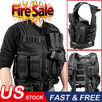 $27.99 • Buy Military Vest Tactical Plate Carrier Holster Police Molle Assault Combat Gear US