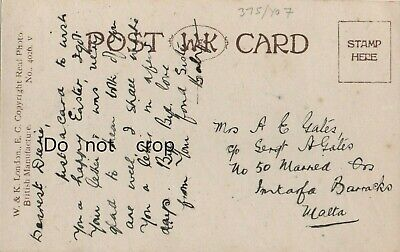 £1.99 • Buy WW1 Religious Easter Card To Mrs A G Gates Married Qtrs Intarfa Barracks Malta