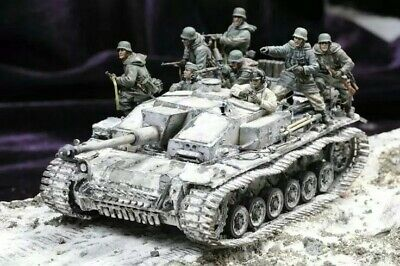£27.95 • Buy UK Shipping 1:35 Scale Unpainted Resin Figure German Tank Soldiers With Infantry