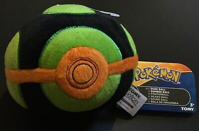 £10.95 • Buy Dusk Ball TOMY Pokemon Plush Toy 2017 Complete With Tags RARE