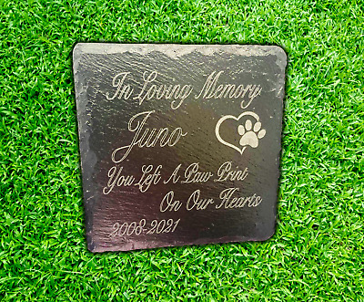 £5.69 • Buy Memorial Plaque For Pet Cat Dog Slate Marker Personalised Grave Stone
