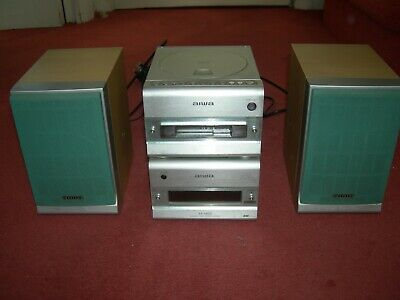 £64.99 • Buy Aiwa XR-M88 Compact Disc Cassette Stereo System Silver Micro Separates Hifi