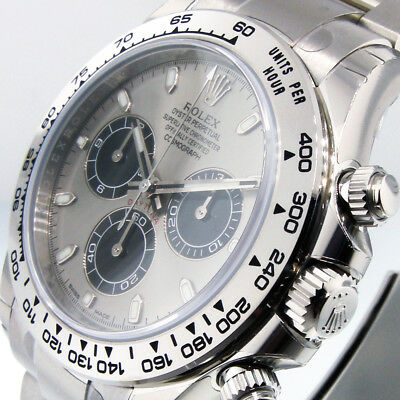 $ CDN70495.58 • Buy ROLEX DAYTONA 116509 COSMOGRAPH 18K WHITE GOLD 40 Mm OYSTER STEEL AND BLACK DIAL
