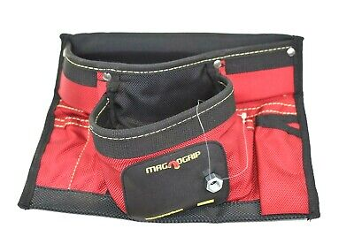 $30.49 • Buy MagnoGrip 8 Pocket Magnetic Nail Pouch Small Tool Carpenter's Bag Red