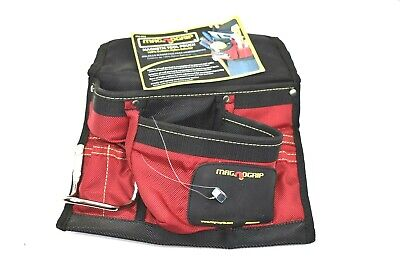 $33.49 • Buy MagnoGrip 8 Pocket Magnetic Nail Pouch Small Tool Carpenter's Bag Red 202-812