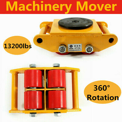 $189.28 • Buy 4 Packs 6T Heavy Duty Machine Dolly Skate Machinery Roller Mover Cargo Trolley
