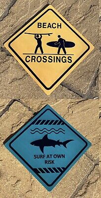 £4.20 • Buy Two 'Australian'  Surf/Beach/Seaside Themed Metal Wall Signs/Plaques