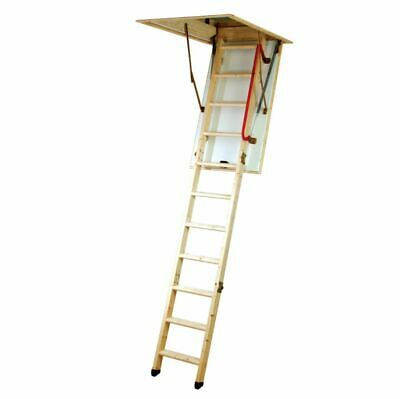 £62.50 • Buy Youngman Eco S Line Wooden Timber Folding Loft Ladder Hatch Frame & Handrail