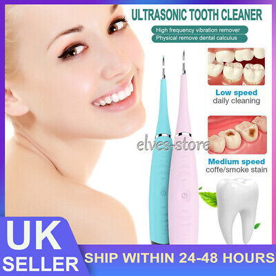 £7.59 • Buy Electric Tooth Cleaner Ultrasonic Oral Irrigator Cleaning Kit Teeth Stain Dental