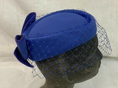 £10 • Buy Vintage Pillbox Hat Bermona Trend Purple Bow Special Occasions Ascot Wedding