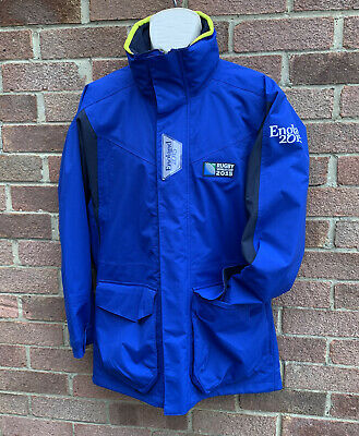 """£29.99 • Buy Musto Promo England Rugby 2015 Waterproof Jacket Coat Size Small 40"""" Chest Blue"""