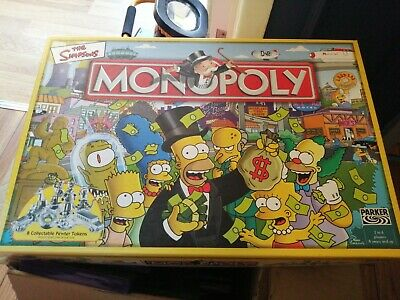 £17.99 • Buy The Simpsons Monopoly Board Game ☆ Hasbro Parker 2003 ☆ COMPLETE Freepost