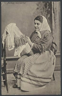 £6 • Buy Malta. Maltese Lace Worker. 1915 Postcard Posted At Yarmouth, Isle Of Wight