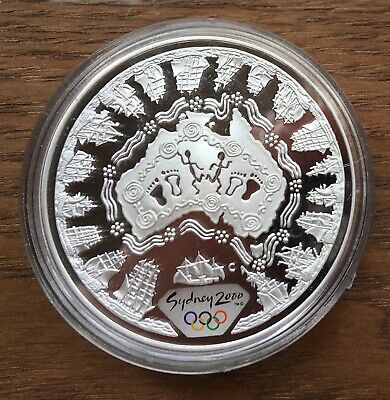 £34.99 • Buy Ct01 Australia 2000 $5 1oz Silver Proof Coin In Capsule Sydney Olympics - Map