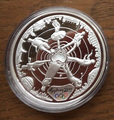 £34.99 • Buy Ct02 Australia 2000 $5 1oz Silver Proof Coin In Capsule Sydney Olympics - World