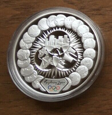 £34.99 • Buy Ct06 Australia 2000 $5 1oz Silver Proof Coin In Capsule Sydney Olympics - Views