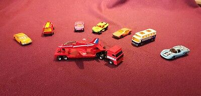 £4.99 • Buy 7 X Vintage Matchbox Cars PLUS Red Arrow Truck And Plane - Excellent Condition