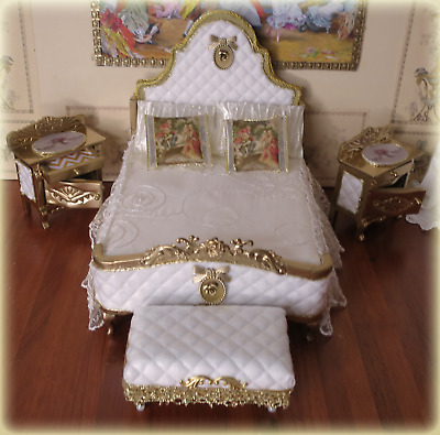 £79 • Buy Dolls House Bedroom Setting French Louis XV Style Miniature Collection ~