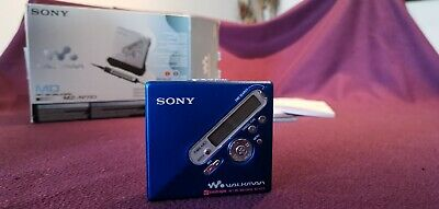 £31 • Buy Sony MD MZ-N710 MiniDisc Player: BLUE With Box And Accessories - Great Condition