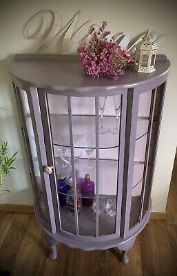 £160 • Buy French Vintage Drinks Gin Cabinet Glass Display Unit Up Cycled