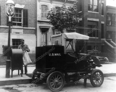 $19.98 • Buy U.S. Post Man & Antique Mail Truck 1900s Classic 8 By 10 Reprint Photograph
